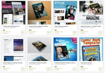 Get InDesign magazine templates one at a time from GraphicRiver