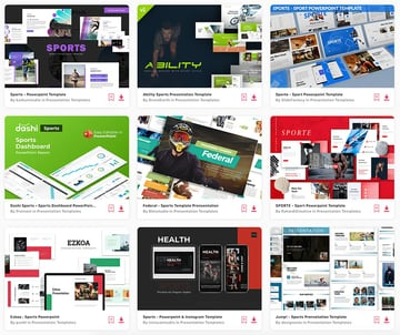 Some of the best sports presentation templates from Envato Elements.