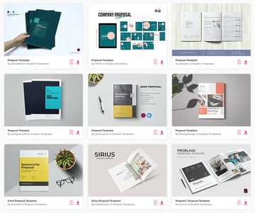 Enjoy unlimited premium proposal template downloads with a subscription to Envato Elements.
