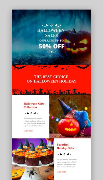 Trio Email Template with Halloween Email Template