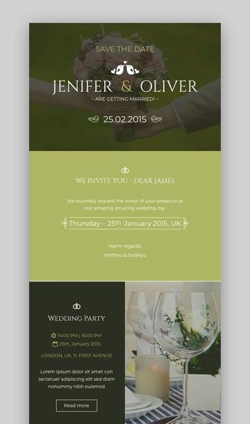 Wedding Invitation Newsletter Template