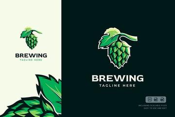 Brewing Logo Template (AI, EPS, PDF, JPG)