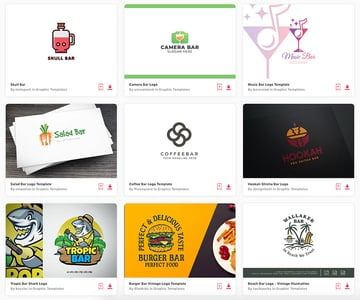Download unlimited bar logo templates from Envato Elements.