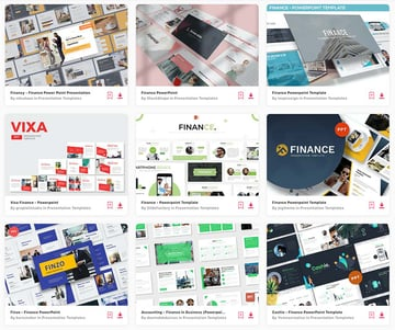 Unlimited financial PowerPoint templates on Envato Elements.