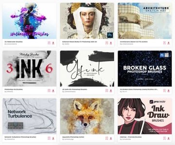 Envato Elements is the best source for premium Photoshop brushes