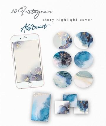 Blue Abstract Instagram Story Highlight Template  (JPG)