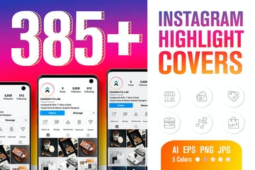 Instagram Highlight Cover Templates (AI, EPS, PNG, JPG)
