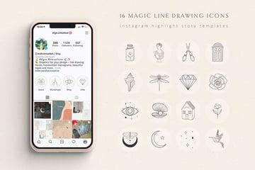Magic Instagram Highlight Story Templates (EPS, PSD, JPG)
