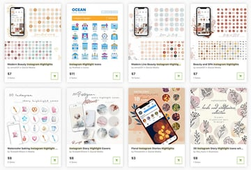 Buy cool Instagram icons one at a time from GraphicRiver.