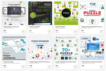 GraphicRiver also has PowerPoint puzzle templates, but you'll pay only for the ones you choose.