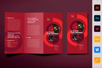Pub Brochure Trifold Brochure Template (AI, EPS, INDD, PSD, DOCX)