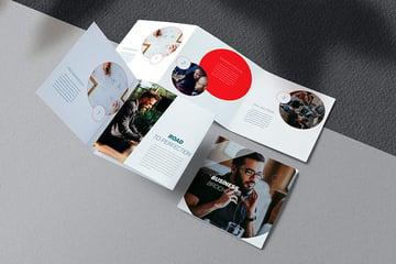 Square Brochure Design (INDD, DOCX)