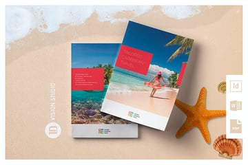Travel Brochure Template (INDD, EPS, DOCX)