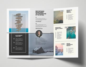 This premium travel brochure template is available from Envato Elements.