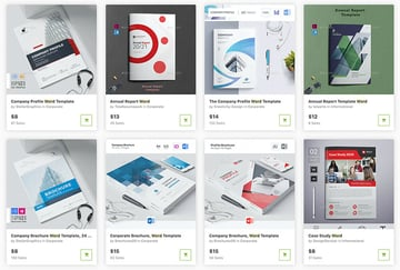 You can buy premium brochure templates one at a time from GraphicRiver.
