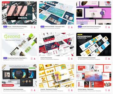 Source the best creative PowerPoint templates on Envato Elements, a premium subscription service.