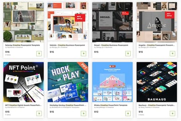 Use GraphicRiver for pay-as-you-go cool and creative PowerPoint templates.
