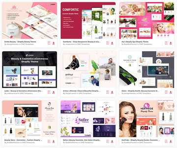 The best Shopify themes for beauty are on Envato Elements.
