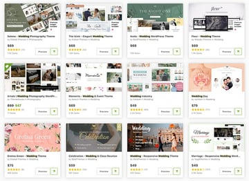 The best WordPress wedding themes for 2021 are on ThemeForest.