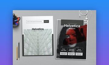 Helvetica Magazine Indesign Template