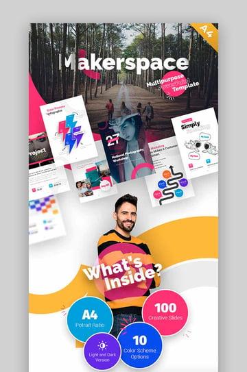 Makerspace Multipurpose Brochure Template PPT