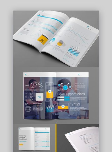 Report Template - Great for a Charity Annual Report Template