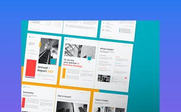 Modern Annual Report Template 2021