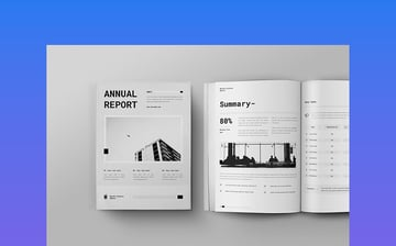 Monochromatic Annual Report Format For NGO