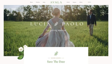 Use Avala, one of our newest WordPress wedding themes, for your WordPress wedding website.