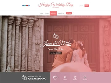 Happy Wedding Day -WordPress Wedding Theme Free