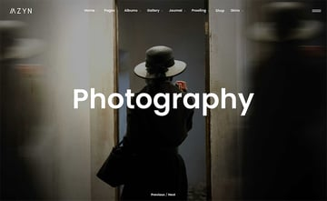 Azyn is a new WordPress gallery theme with a modern design.