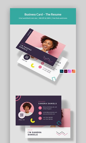 Affinity Publisher Business Card Template (INDD, PSD, AFPUB)