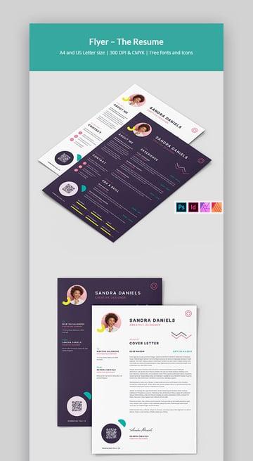 Modern Resume Affinity Publisher Template (INDD, PSD, AFPUB)