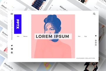 CLEAN Premium PPT Template features a minimal and modern design, perfect for your next presentation.