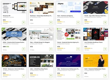 ThemeForest has a wide range of affordable WordPress themes, available right now.