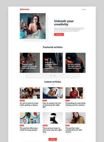 Johannes - Fast Minimal WordPress Theme