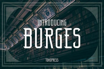 3. Burges - Classic Art Deco Font (OTF, TTF, WOFF)