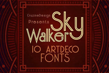 Skywalker - Art Deco Typeface (OTF, TTF)