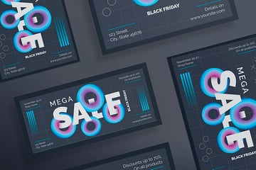 Black Friday Sales Flyer Template (EPS, PSD)