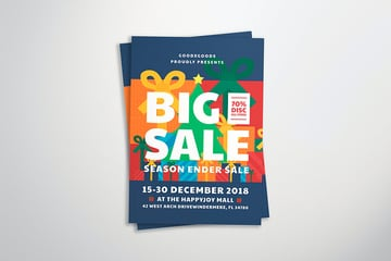 Christmas Sales Flyer Template (AI, PSD)