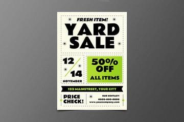 Classic Yard Sale Flyer Template (AI, PSD)
