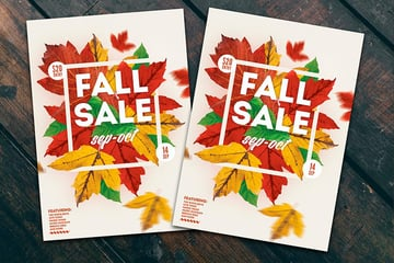Fall Sales Flyer Poster (PSD)