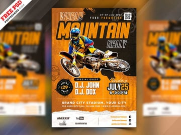 Racing Event Flyer PSD Template