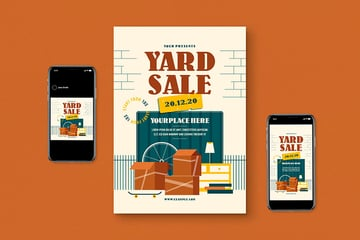 Yard Sale Flyer Template Pack (AI, PSD)