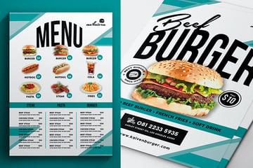 Modern Flyer For Restaurants (PSD)