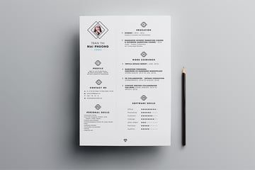 Free resume template CV for InDesign
