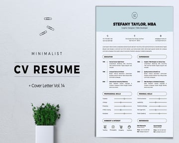 Resume template with branding