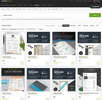 cool resumes GraphicRiver