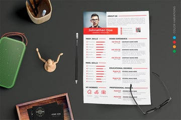 CV designs in Envato Elements resume design ideas