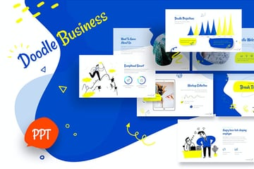 Check out this cool social media presentation template with doodles.